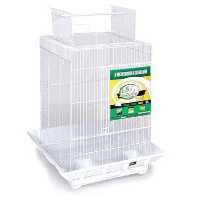 Clean Life Playtop Cage in White