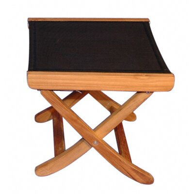 Regal Teak Teak Sling Foot Ottoman