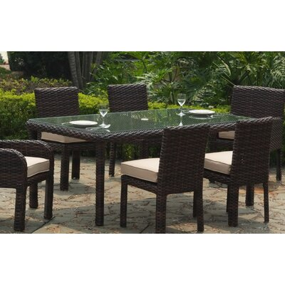 South Sea Rattan Saint Tropez Wicker Rectangular Dining Table
