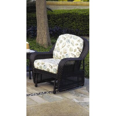 Key West Wicker Swivel Glider