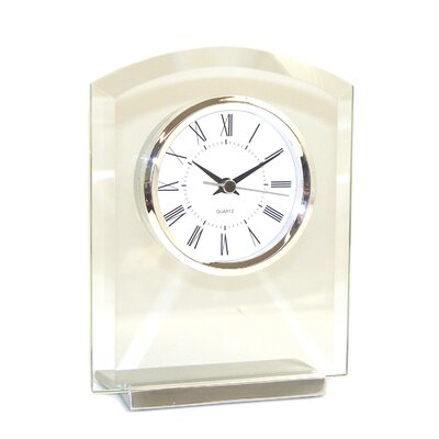 Bey-Berk Glass Novo Clock