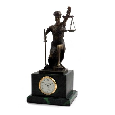 Kneeling Lady Justice Clock