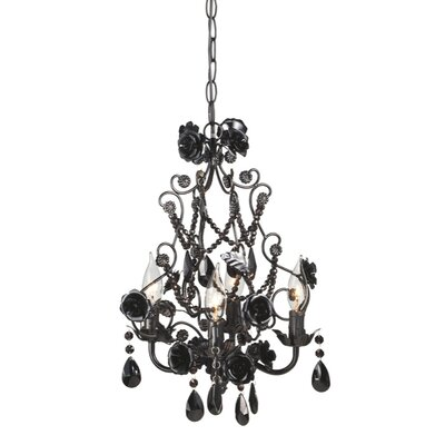Rose Beaded Crystal Chandelier