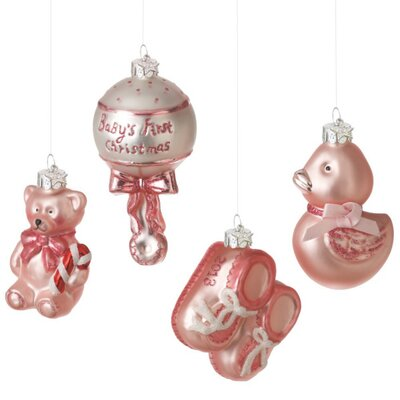 Baby Girl Gift  on Midwest Cbk Baby Girl Glass Gift Boxed Ornament 4 Piece Set   Wayfair