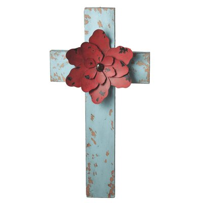 Cross with Flower Wall Art
