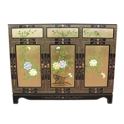 Gold leaf 3 door 3 drawer sideboard wayfair uk for Grand international decor