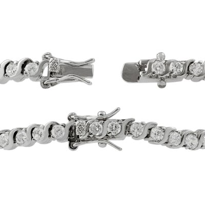 Tressa Collection Solitaire Cubic Zirconia Tennis Bracelet