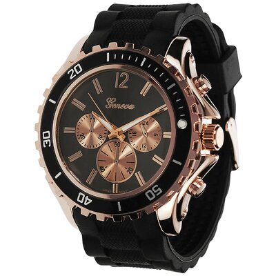 Geneva Platinum Men's Tachymeter Strap Watch