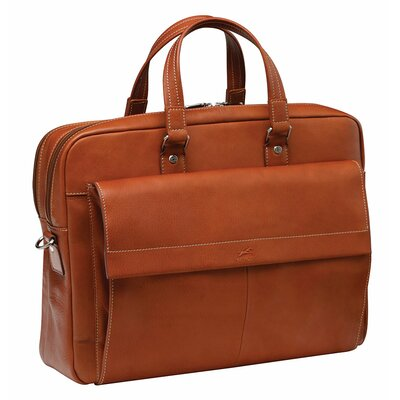 Colombian Double Compartment Leather Laptop Briefcase