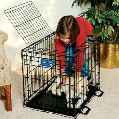 Midwest Homes For Pets Life Stages Fold and Carry Double Door Pet Crate