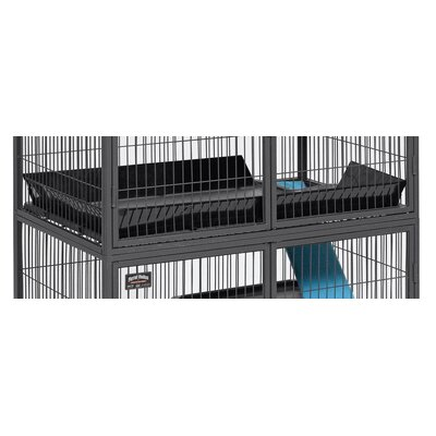 Midwest Homes For Pets Ferret Nation Accessories Upper Level Scatter Guard in Black Powder Coat Hammertone Finish