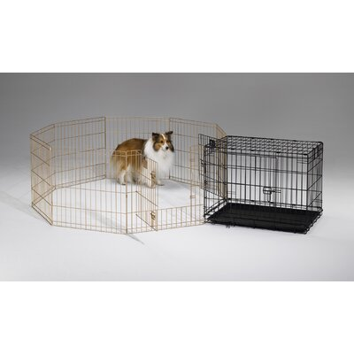 Midwest Homes For Pets Exercise Pen with Door in Gold Finish