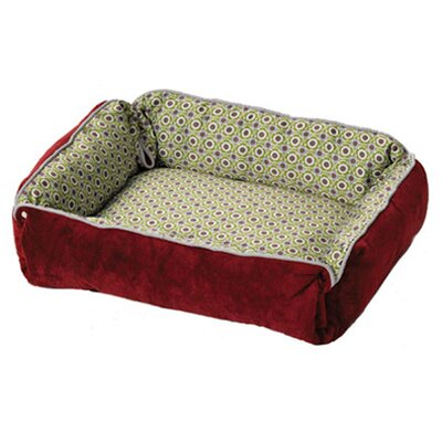 Midwest Homes For Pets Quiet Time Fur and Designer Print Boutique Reversible Snap Bolster Dog Bed