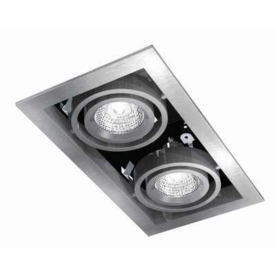 Bazz Series Cube 2 Light Recessed Trim Light