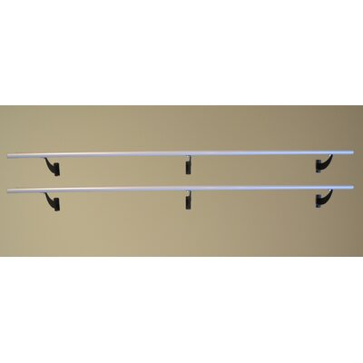 Vita Vibe Wall Barre Series Modern Aluminum  Double Bar Fixed Height Ballet Barre Kit