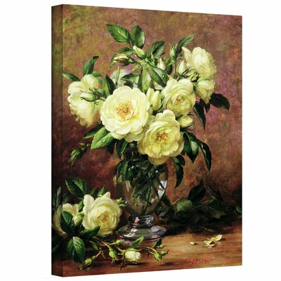 'White Roses, a Gift from the Heart' by Albert Williams Gallery-Wrapped on Canvas