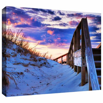 'Sunset At Ocracoke' by Steven Ainsworth Gallery Wrapped on Canvas