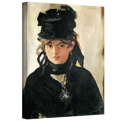 'Berthe Morisot with a Bouquet of Violets' by Edouard Manet Gallery-Wrapped on Canvas