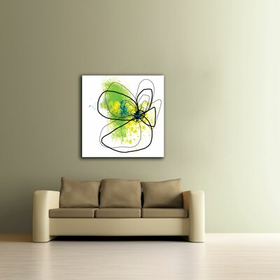 Art Wall 'Citron Petals ' by Jan Weiss Graphic Art Canvas