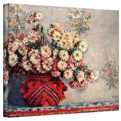 Claude Monet ''Red Vase'' Canvas Art