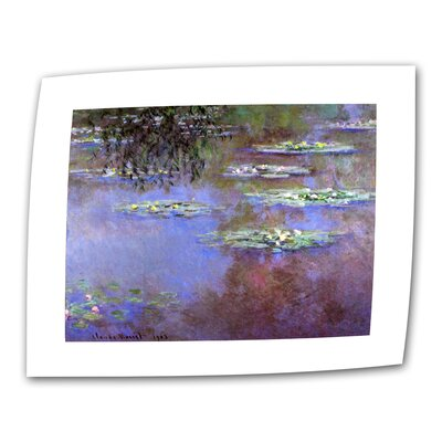 "Art Wall Claude Monet ""Sea Roses II"" Canvas Wall Art"