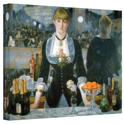Art Wall Edouard Manet ''A Bar at the Fol'' Canvas Art