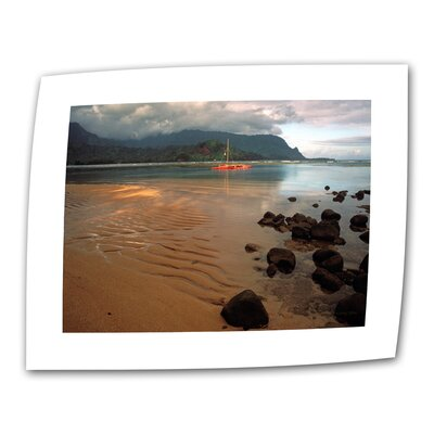 "Art Wall ""Hanalei Bay at Dawn"" by Kathy Yates Photographic Print on Canvas"