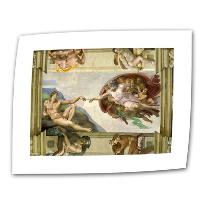 "Art Wall Michelangelo ""The Creation of Adam"" Canvas Wall Art"