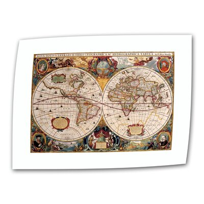 "Art Wall Antique ""Hydrographica Map Antique Map"" Canvas Wall Art"