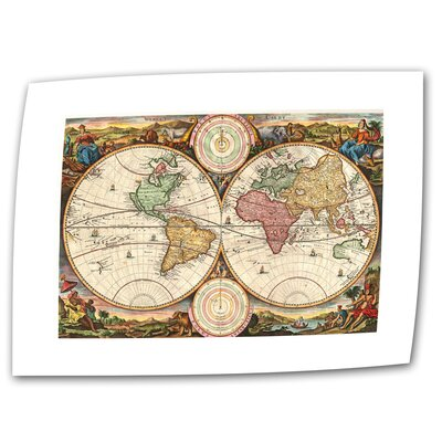 Antique Maps '1730 Map of the World' Unwrapped Canvas Wall Art