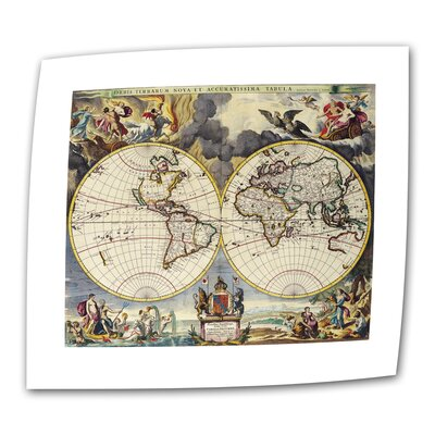Art Wall Antique Maps 'Map of the World' Unwrapped Canvas Wall Art