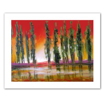 Art Wall Susi Franco 'Tuscan Cypress Sunset' Unwrapped Canvas Wall Art