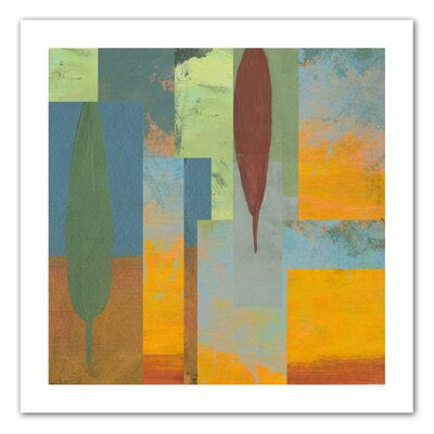 Jan Weiss 'Tuscany Square I' Unwrapped Canvas Wall Art