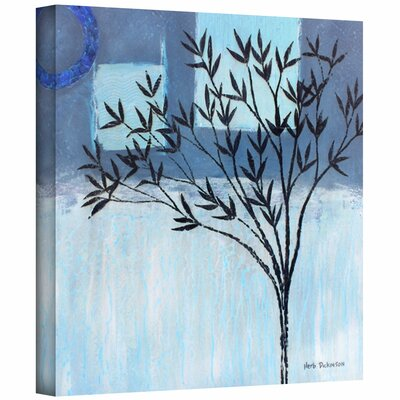 Herb Dickinson 'Ashley Day Blue' Unwrapped Canvas Wall Art