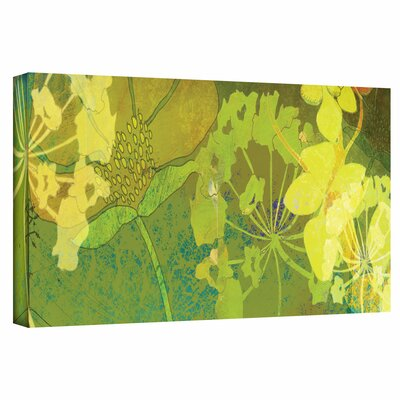 Jan Weiss 'Wildflower Shadows Panel' Gallery-Wrapped Canvas Wall Art