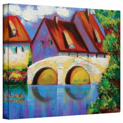 Susi Franco 'German Village on Rhine' Gallery-Wrapped Canvas Wall Art