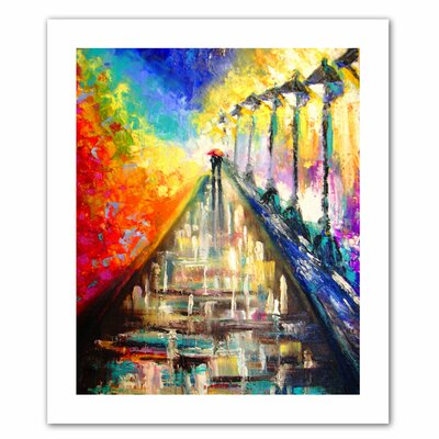 Susi Franco 'Rainy Paris Evening' Unwrapped Canvas Wall Art