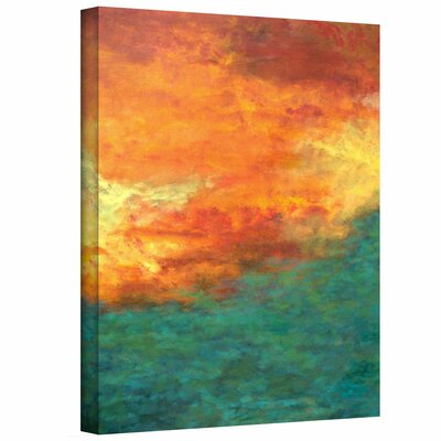 Herb Dickinson 'Lake Reflections ' Unwrapped Canvas Wall Art