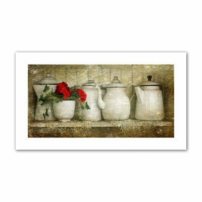 David Liam Kyle 'Flower with Pots' Unwrapped Canvas Wall Art