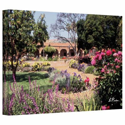 Linda Parker 'Gardens of Mission San Juan Capistrano II' Gallery-Wrapped Canvas Wall Art
