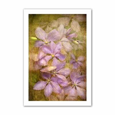 David Liam Kyle 'Purple Flowers' Unwrapped Canvas Wall Art