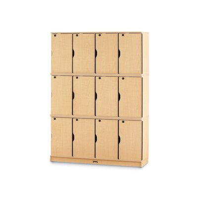 Jonti-Craft Triple Stack Lockable Lockers