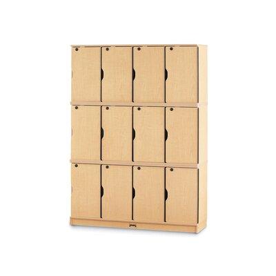 Jonti-Craft Triple Stack Lockable Lockers with Optional Master Key
