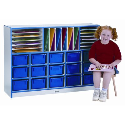 Jonti-Craft Sectional Mobile 34 Compartment Cubby