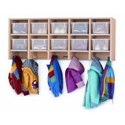 Jonti-Craft Large Wall Mount Coat Locker