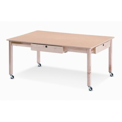 "Jonti-Craft Locking Laptop 54.5"" W x 34"" D Computer Table"