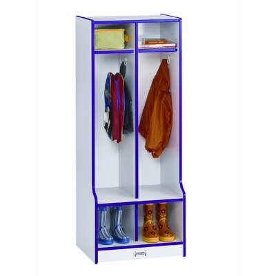Jonti-Craft Two Sections Double Locker with Step