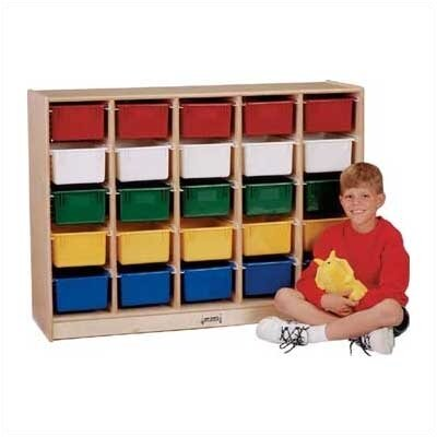 Jonti-Craft E-Z Glide Tray Mobile 25 Compartment Cubby