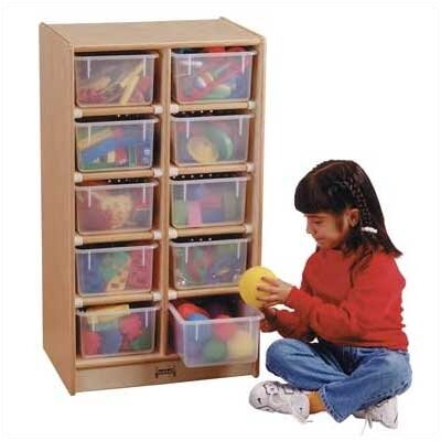 Jonti-Craft Tray Mobile 10 Compartment Cubby