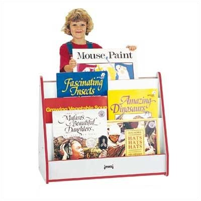 "Jonti-Craft 28"" H Rainbow Accents Big Book Pick-a-Book Stand - 1 Sided"
